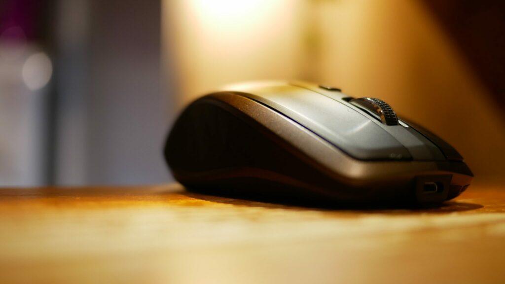 Photo d'une souris informatique