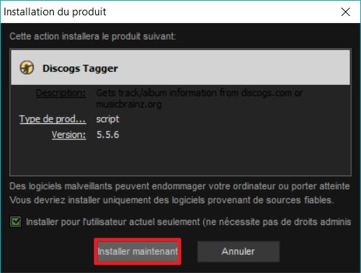"""Capture d'écran de l'application MediaMonkey, fenêtre """"Installation du produit""""."""