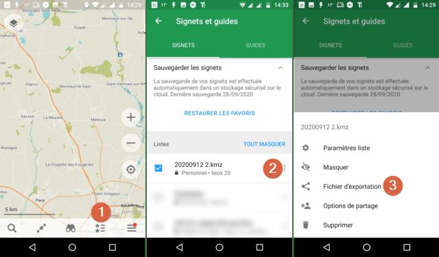 """Capture d'écran de l'application """"Maps.me""""."""