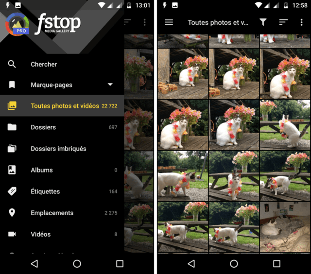 Capture d'écran de l'application F-Stop