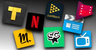 Assemblage logos meilleures applications Android pour les films, les séries et la TV