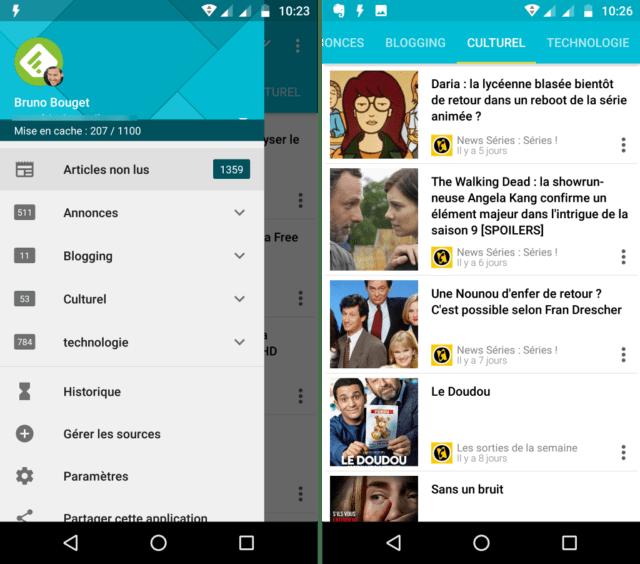 Capture d'écran de l'application Palabre