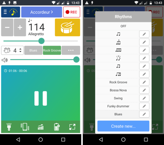 Capture d'écran de l'application Android Soundcorset