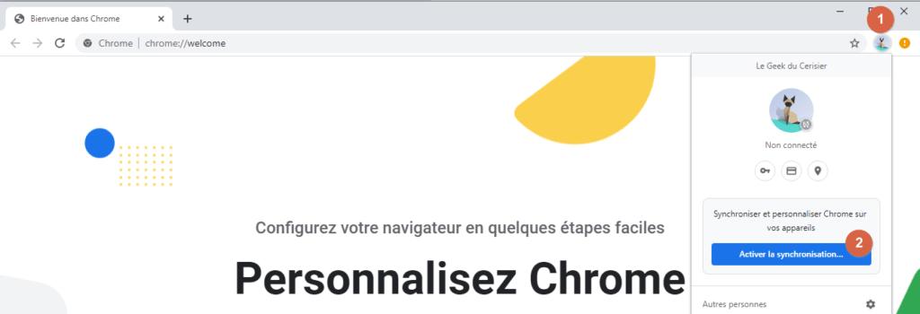 """Capture d'écran de l'application Windows """"Chrome""""."""
