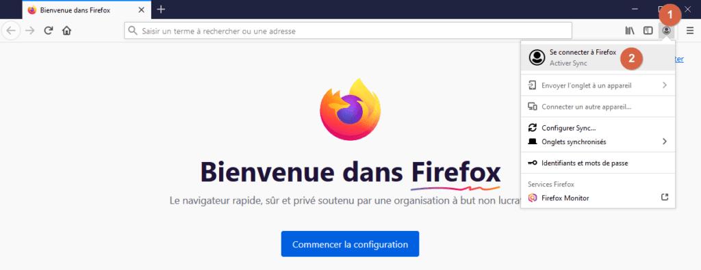Capture d'écran de l'application Windows Firefox.