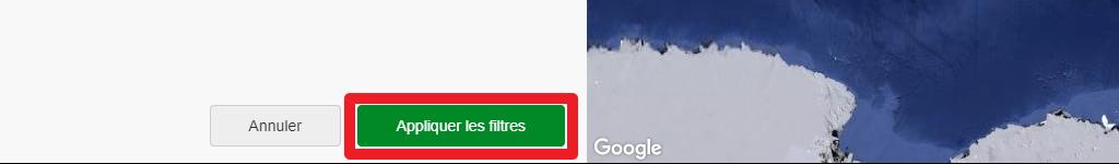 """Capture d'écran du site Wikiloc, bouton """"Appliquer les filtres""""."""